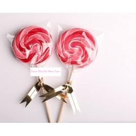 Red Color Handmade Lollipops 50g for Lollipop - Candy Corner Decoration