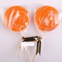 Orange Color Handmade Lollipops 50g