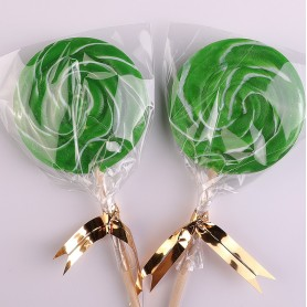 Green Color Handmade Lollipops 50g for Lollipop - Candy Corner Decoration