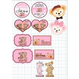 Duffy & Shilliemay Candy Corner Tag with Design for Candy Corner Tag With Design - Candy Corner Decoration