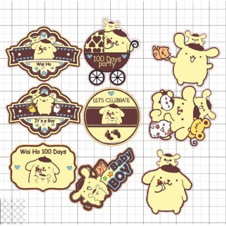 Pom Pom Purin Candy Corner Tag with Design for Candy Corner Tag With Design - Candy Corner Decoration