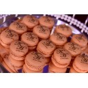 Personalized design wedding logo macaron 100pcs