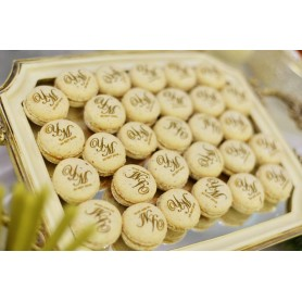 Personalized design wedding logo macaron V1
