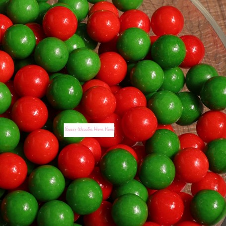 Christmas Bright red & green sugar beans for Christmas Candy - Candy Corner Decoration