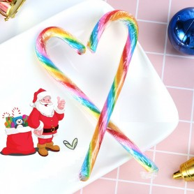 Rainbow Color Candy Canes for Christmas Candy - Candy Corner Decoration