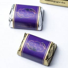 Gold with Purple Wedding Logo 個人化設計HERSHEY'S回禮朱古力 002適用於個人化設計HERSHEY'S朱古力 - Candy Corner Decoration