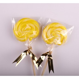 Bright Yellow Color Handmade Lollipops 50g for Lollipop - Candy Corner Decoration