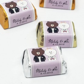 Brown & Cony 熊大兔兔個人化設計HERSHEY'S朱古力 V3 for Personalized Hershey's Wedding Chocolate  - Candy Corner Decoration