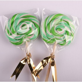 Green Color Handmade Lollipops 50g