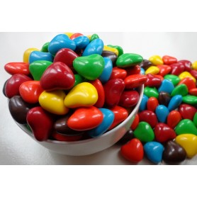 Color heart shaped chocolate beans for Heart Shape Chocolate Bean - Candy Corner Decoration