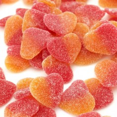 Spain Fini Peaches Heart Gummy for Gummy - Candy Corner Decoration