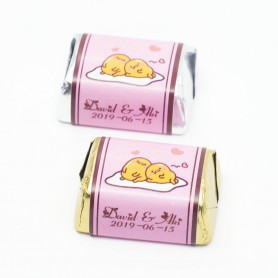 Gudetama Personalized Design HERSHEY'S Wedding Chocolate V4 for Personalized Hershey's Wedding Chocolate  - Candy Corner Deco...