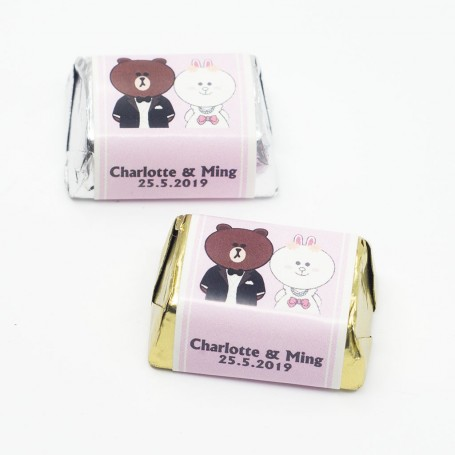 Brown & Cony line friends HERSHEY'S Chocolate for Personalized Hershey's Wedding Chocolate  - Candy Corner Decoration