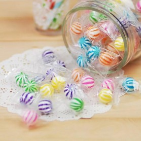 Rainbow Sassy Spheres White Striped Candy Balls for Hard Candy - Candy Corner Decoration
