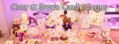 Cony And Brown Candy Corner