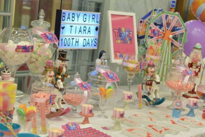 Baby Girl Tiara 100th Days 百日宴Candy Corner (2017-5-13)