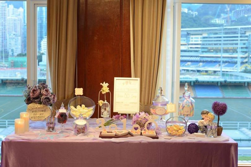 Candy Corner / Candy Bar Professional On-site Services at HONG KONG FOOTBALL CLUB Candy Corner Theme: Purple Color