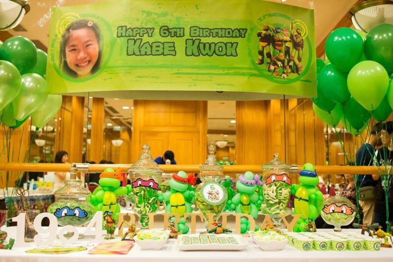 Candy Corner / Candy Bar / 100 Days Birthday Party Professional On-site Services at 欣廷軒 Club House Candy Corner Theme: Ninja Turtle