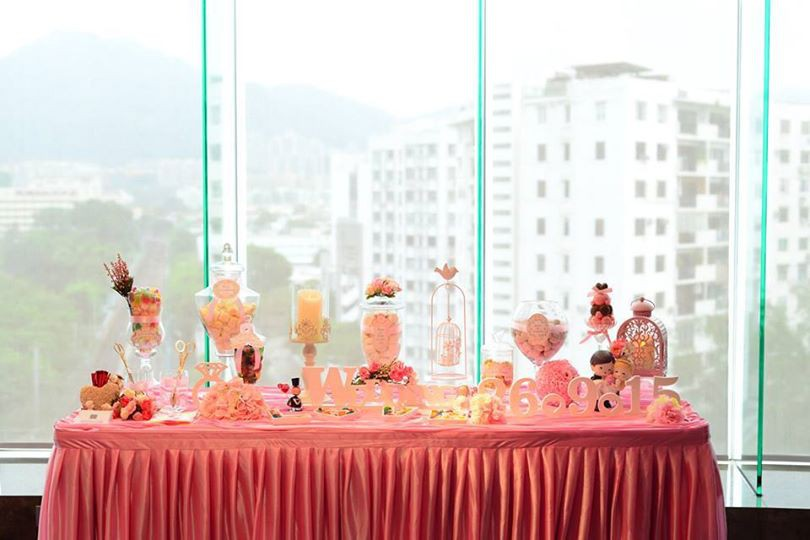Candy Corner / Candy Bar Professional On-site Services at 帝京酒店-喜宴堂 Candy Corner Theme: Pink Color