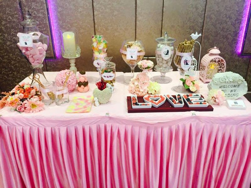 Candy Corner / Candy Bar Professional On-site Services at 譽宴信和廣場 Candy Corner Theme: Pink Color