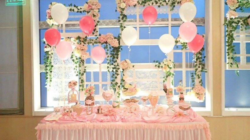 Candy Corner / Candy Bar Professional On-site Services at ClubONE Candy Corner Theme: Pink Color + Balloon