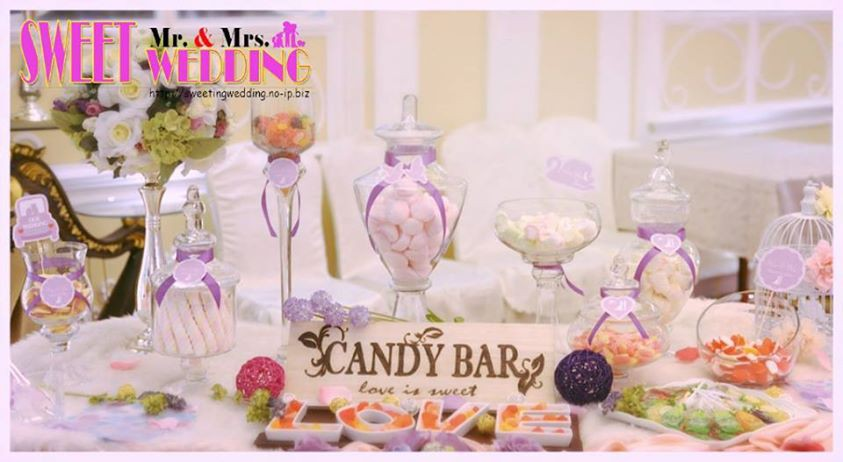 Candy Corner / Candy Bar Professional On-site Services at 九龍灣國際交易中心皇潮匯 Candy Corner Theme: Purple Color