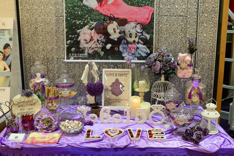 Candy Corner / Candy Bar Professional On-site Services at 紅磡都會煌府鑽石廳 Candy Corner Theme: Purple Color + Romantic