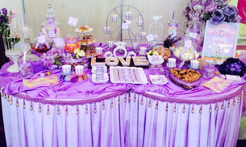 Candy Corner / Candy Bar Professional On-site Services at The One 煌府婚宴 Candy Corner Theme: Purple Color