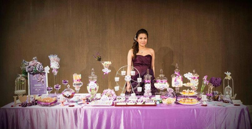 Candy Corner / Candy Bar Professional On-site Services at 香港萬麗海景酒店 Candy Corner Theme: Dark Purple Color + Grand